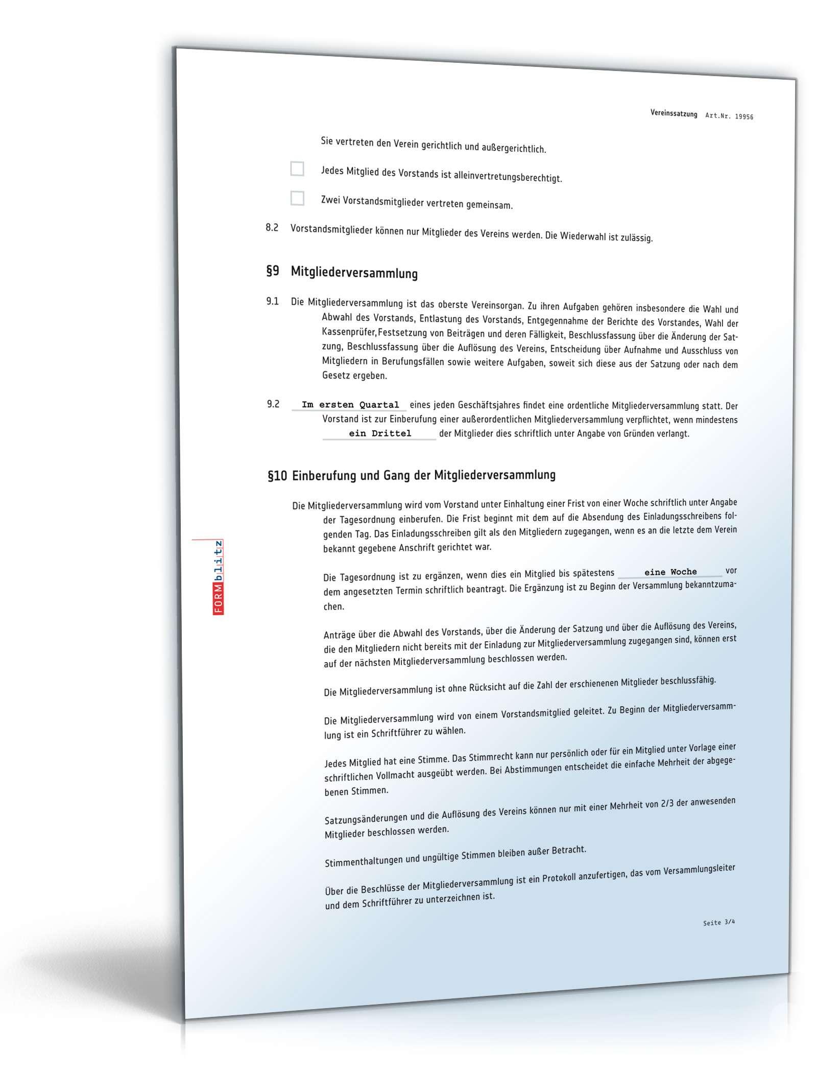 pdf seite 4 - Vereinssatzung Muster