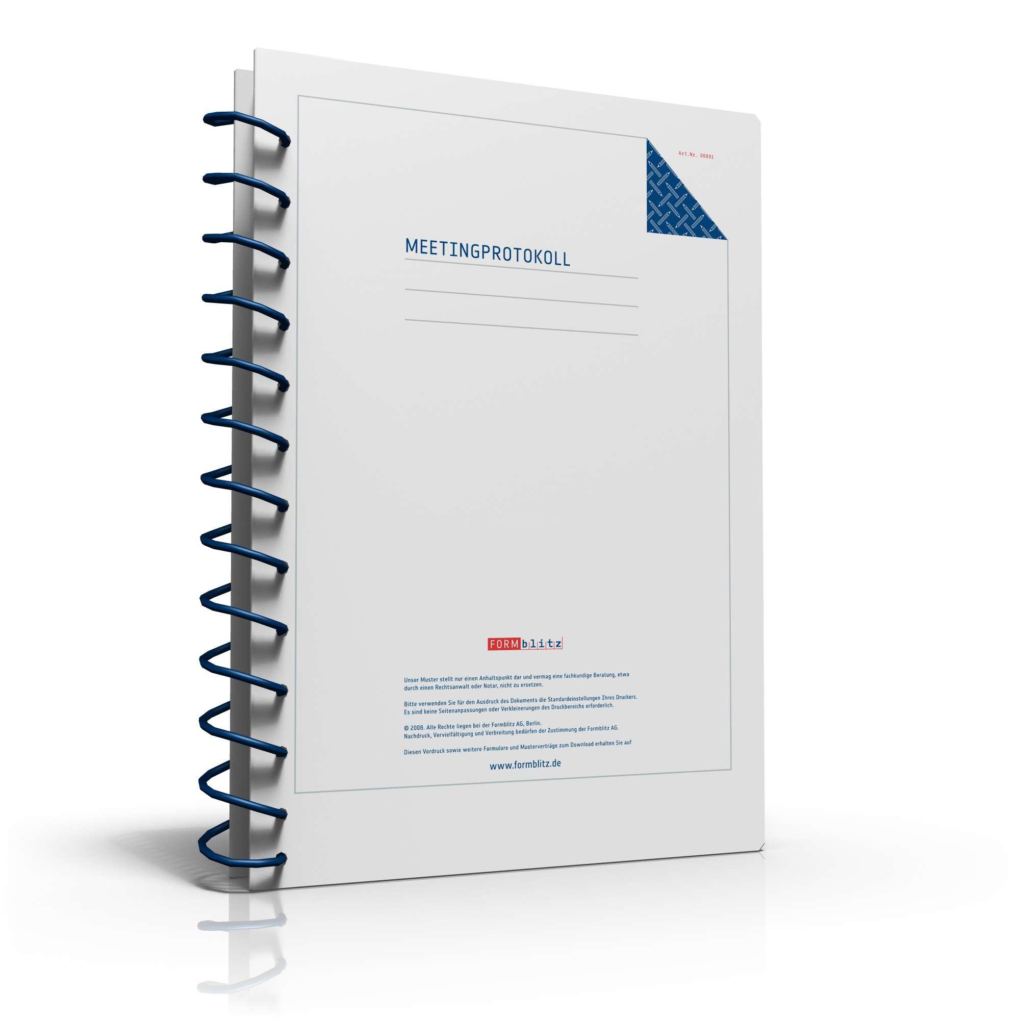 Protokoll Meetings und Konferenzen | Vorlage zum Download