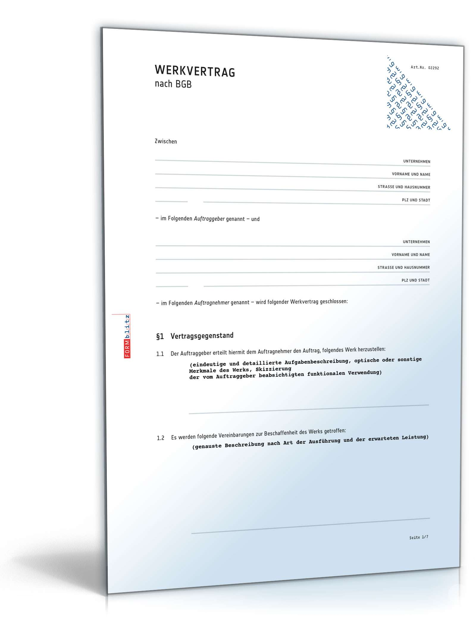 Werkverträge Zum Download Als Pdf Doc