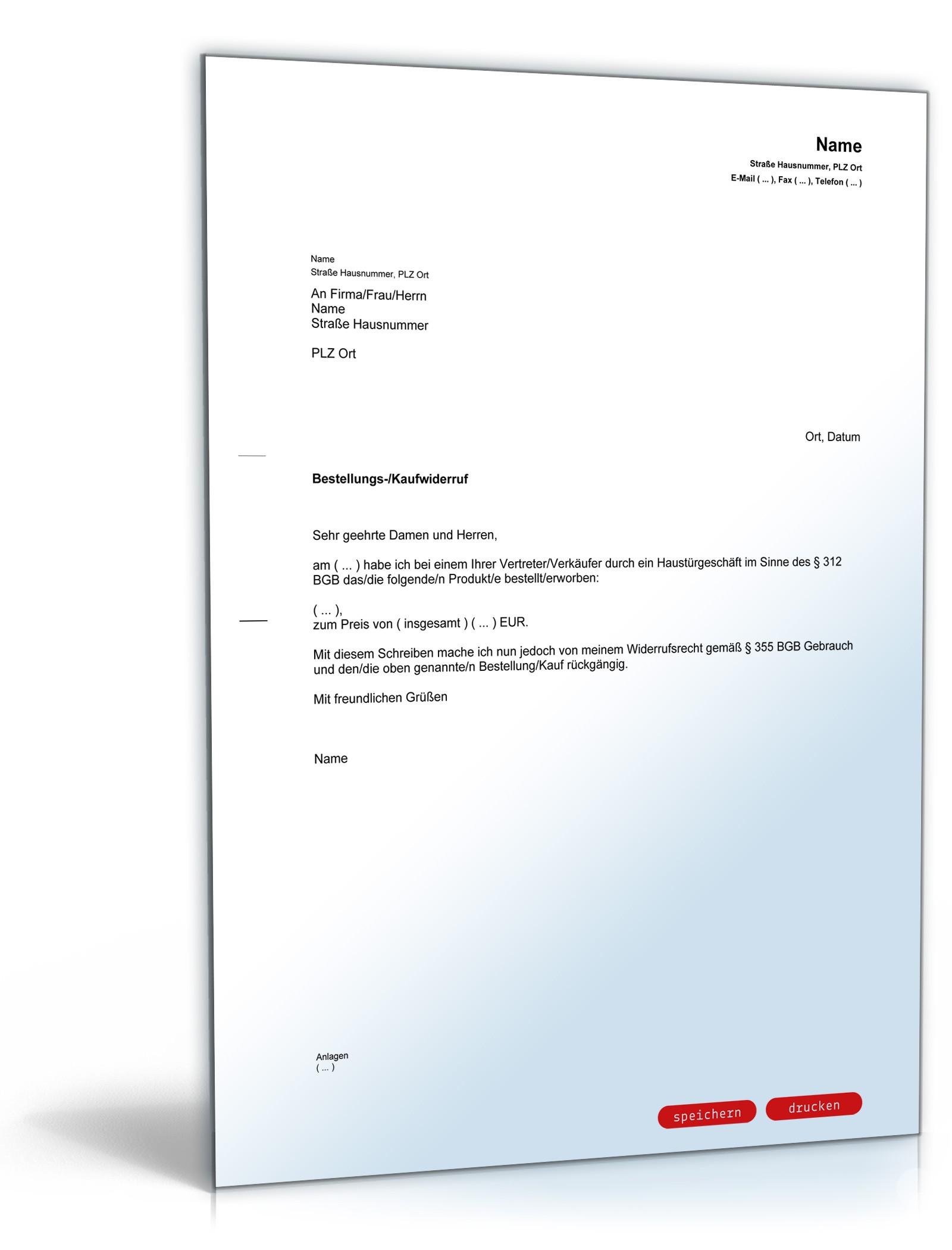 Vodafone Widerruf Vorlage Download Chip 6