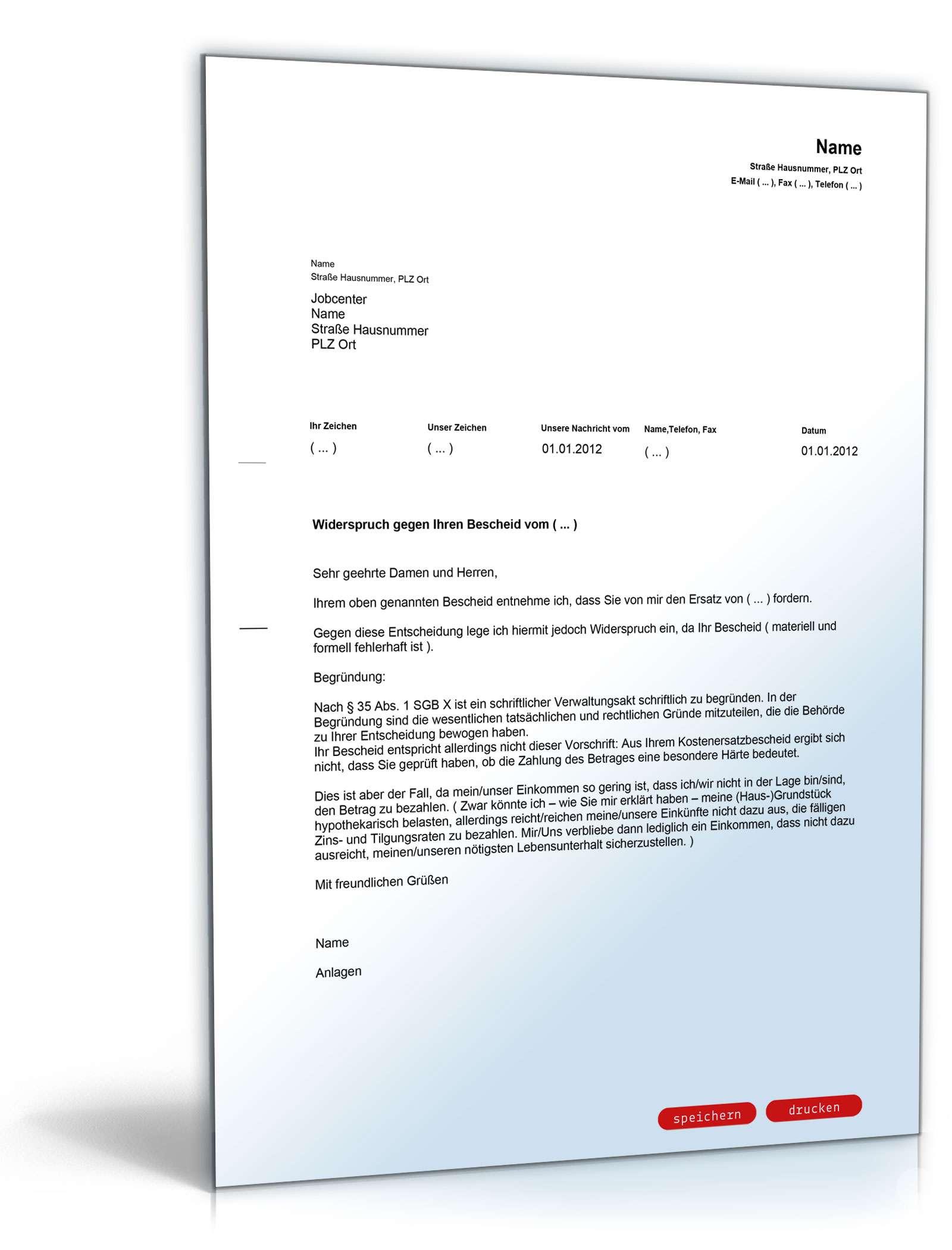 widerspruch rckzahlung alg ii besonderer hrtefall - Widerspruch Jobcenter Ruckzahlung Muster