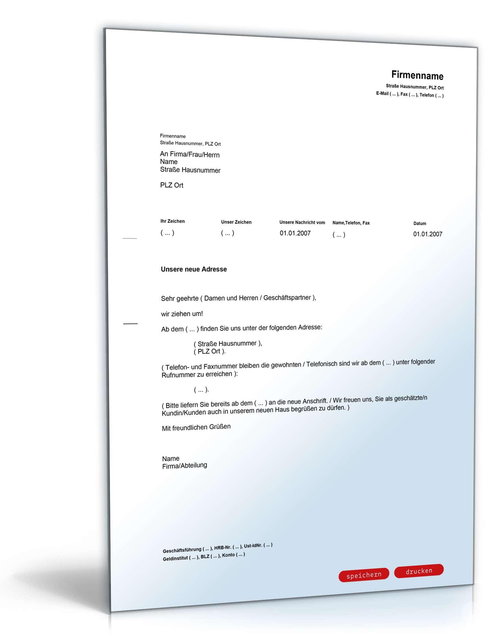 Wir ziehen um! | Muster als PDF & Doc GRATIS zum Download