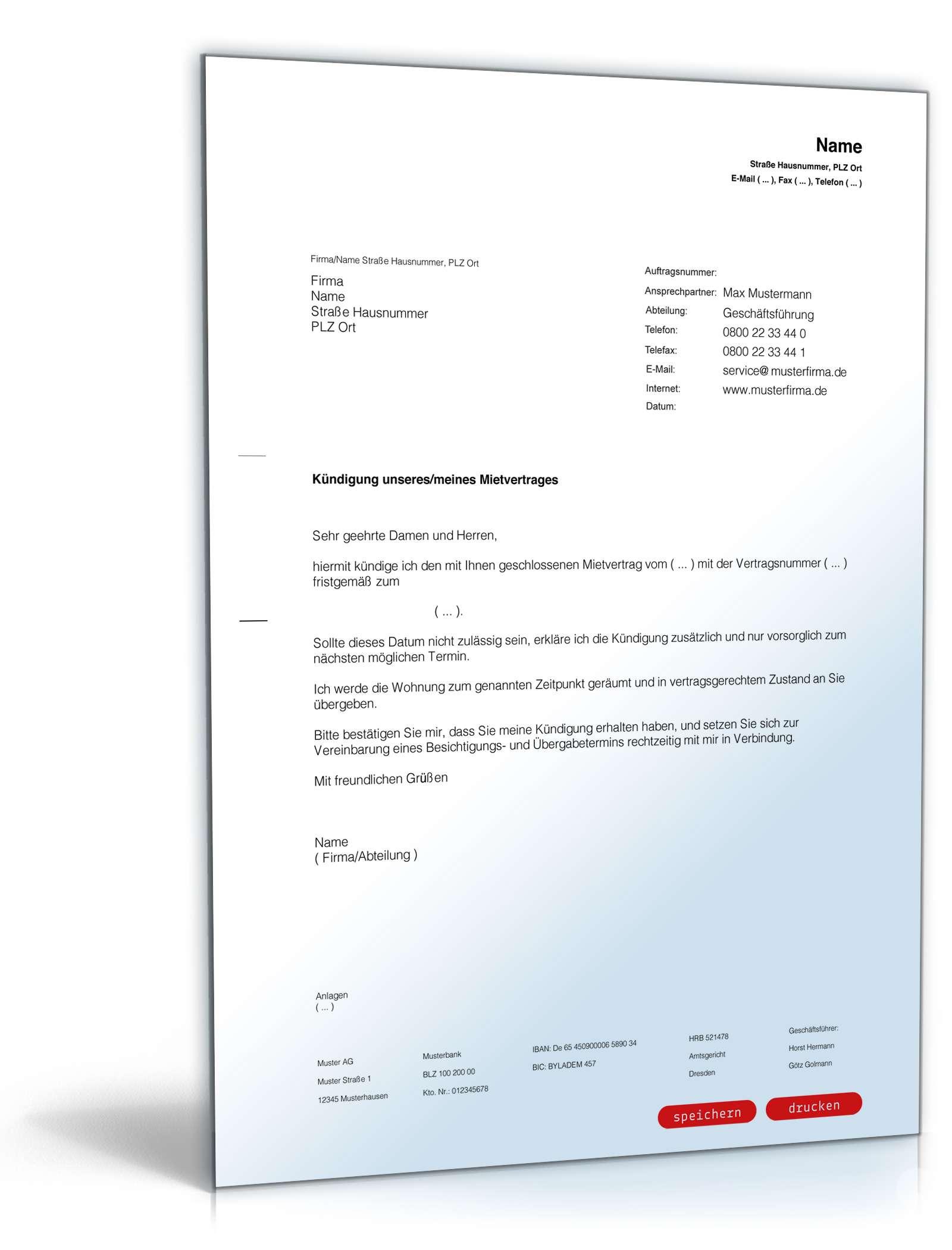 Paket Miete | Verträge & Vorlagen für Mieter zum Download