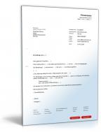 Auftragserteilung Muster Vorlage Zum Download