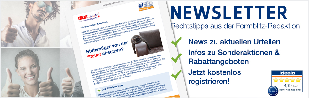 Formblitz Newsletter