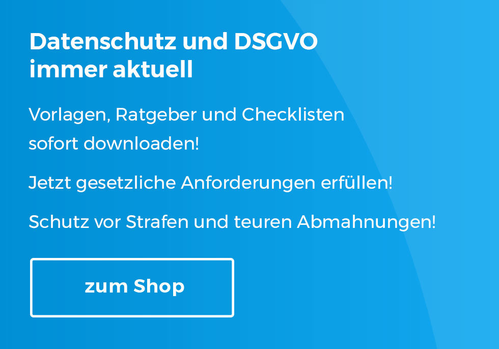 DSGVO Vorlagen als Download